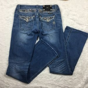 Miss Me Signature Boot Cut  Blue Jeans - Size 27